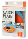 Boon, farfurie cu ventuza Catch, albastru/portocaliu, nu contine ftalati