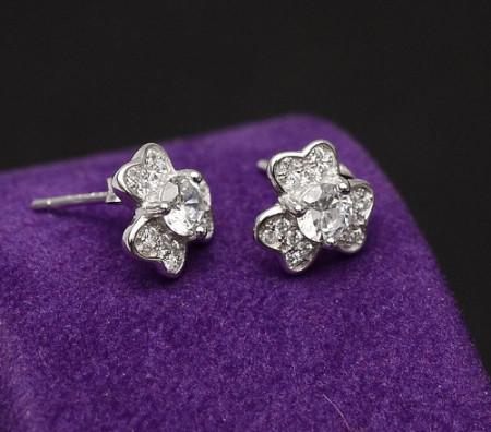 Cercei Din Argint - Diamond Flower cod ARG282E