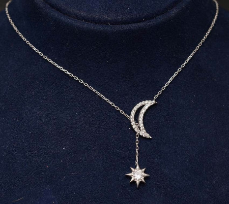 Colier din argint Silver Star & Moon ARG156A