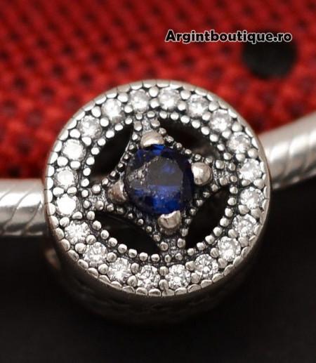 Talisman Din Argint PIATRA ALBASTRA CHA1054