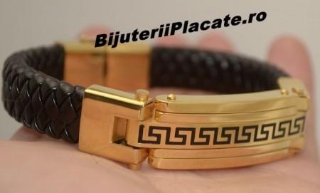 Bratara Versace Solida Piele -PREMIUM- Inox B938