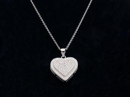 Colier din argint Best Love ARG108A