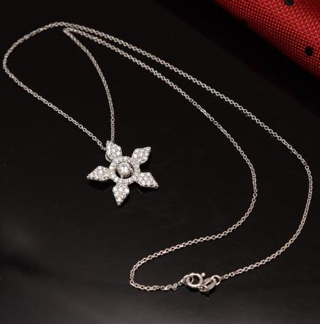 Lantisor Cu Pandativ DIn Argint -- STEA-- ARG157