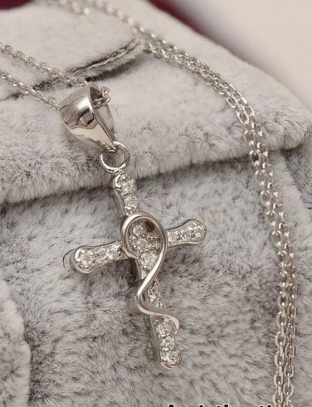 Lantisor Finut Din Argint Si Cruciulita Arg102