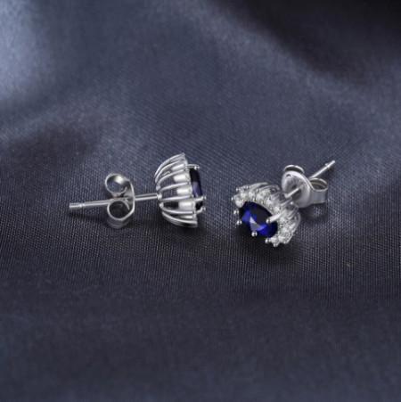 Cercei ARGINT CU Zirconiu --BLUE SAPPHIRE-- arg237A