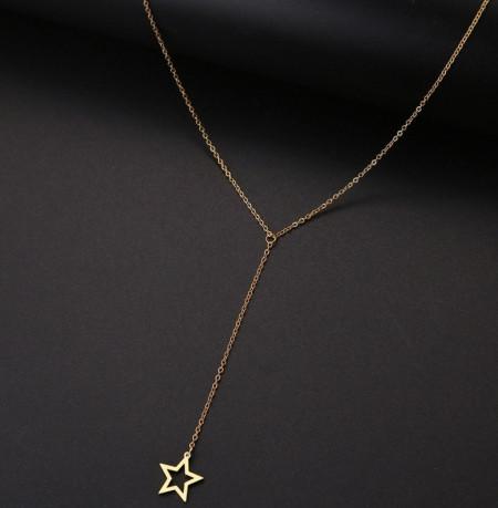 Set Lant+ pandantiv STEA LUNG GOLD---FINUT --- Cod LC232G