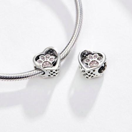 Talisman din argint -Footprint Stopper Bead- CHA1016A