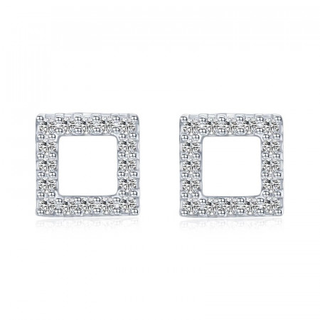 Cercei Din Argint - Minimalism Square- cod ARG06A