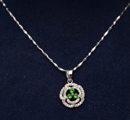 Colier argint 925 Green Flower ARG326A