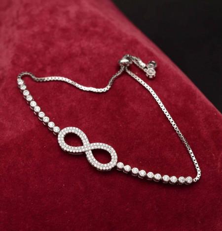 Bratara din argint Sparkling Infinite Glamour ARG183A