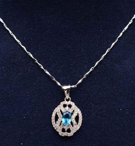 Colier argint 925 Cristal Blue ARG331B