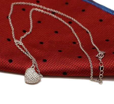 Colier din argint -- HEART -- Arg88