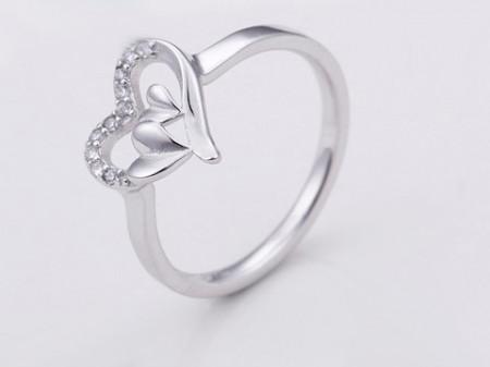 Inel ARGINT --HEART -- ARG64