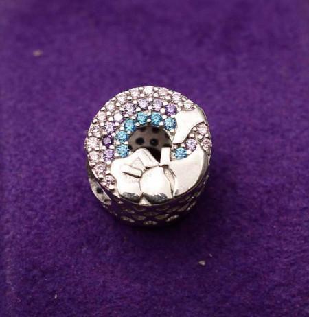 Talisman din argint Multicolor CHA1031