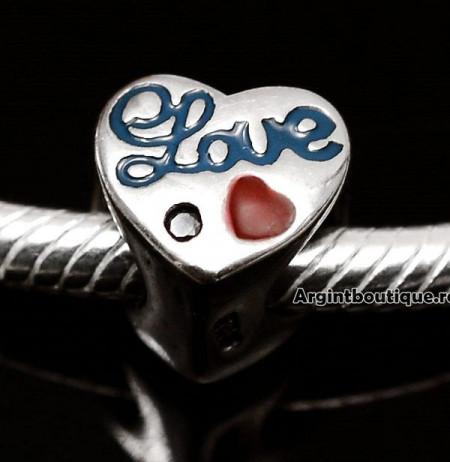 Charm Argint 925 -Love Blue- CHA1034