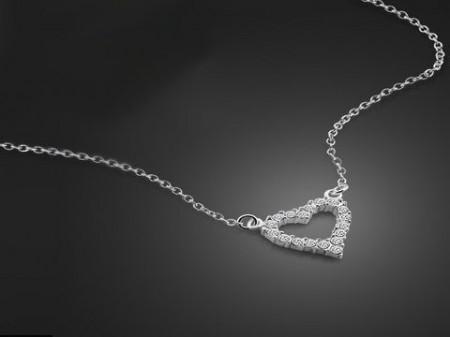 Colier din argint Love Hearts ARG189