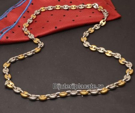 Lant Inox Auriu Argintiu L16