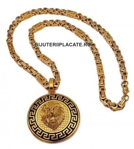 Lant inox --VERSACE-- si Medalion -LION- LC10E
