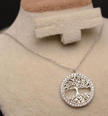 Lantisor Din Argint -- TREE OF LIFE-- ARG150A