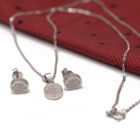 Set Argint 925 Rodiat Simple Whisper OVALI SET265