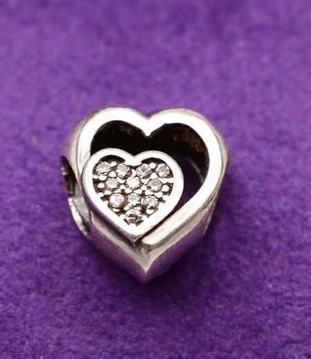 Talisman din argint Shinny Love CHA1093