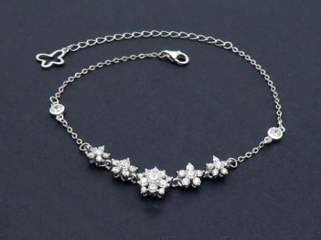 Bratara din argint Beautiful Fashion Flowers Arg223