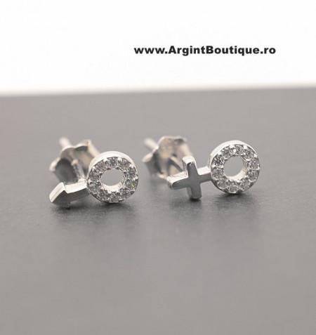 Cercei din argint Gender Symbol cod ARG179