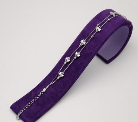 Bratara din Argint Double Chains Lovely Arg286
