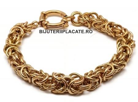 Bratara Inox -Byzantine Auriu Cod B975