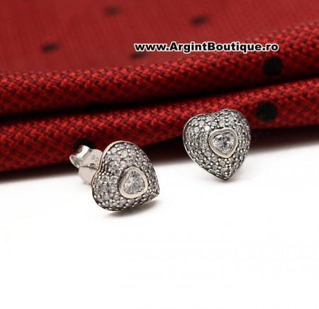 Cercei Din Argint - Heart - cod ARG176