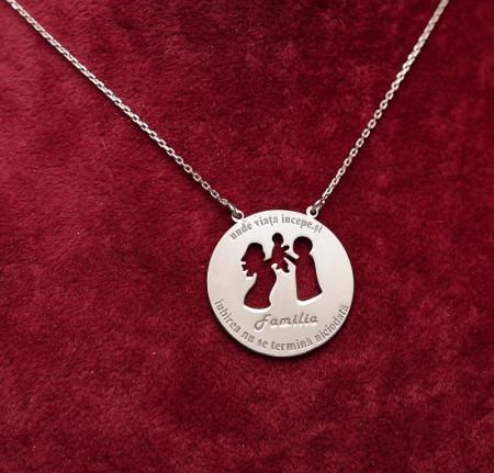 Colier din argint Famila 3 persoane Arg146A