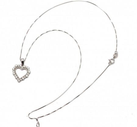 Colier din argint Love Hearts Special ARG257
