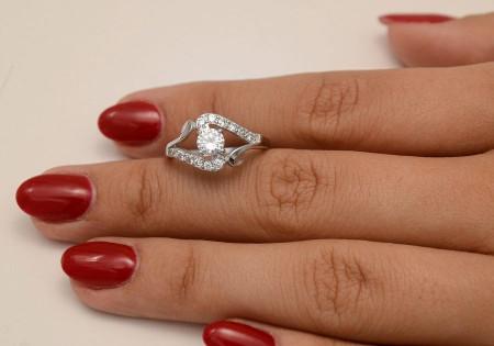 Inel ARGINT Fancy Little Diamond 925 CZ
