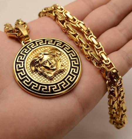 Lant inox si Medalion -MEDUSA- LC40J