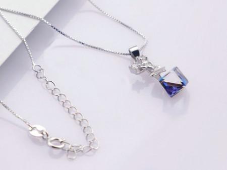 Colier din argint Crystal Blue