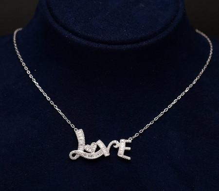 Colier din argint Love Arg341