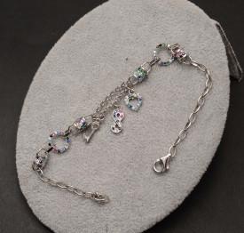 Bratara din argint Cute Chain Hearts ARG 338A
