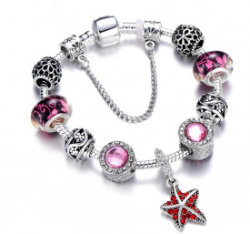Bratara Inox Charmuri -Pink-- Dama cod BF998E