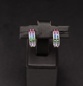 Cercei argint 925 Simple Multicolor -cod ARG333