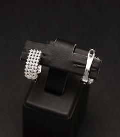 Cercei cu tortita Argint 925 Spotlight, model geometric ARG359C