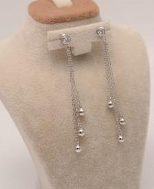 Cercei Din Argint Diamonds Simple cod ARG301