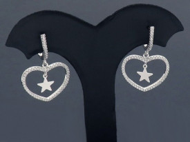 Cercei Din Argint Sapphire LOVE cod ARG117A