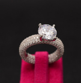 Inel din argint Perfect Engagement Ring Round Diamond ARG276A