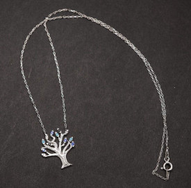 "Lantisor Cu Pandativ DIn Argint --""Deep Colorful Tree of Life""- ARG144B"