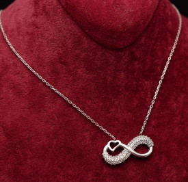 Lantisor Cu Pandativ DIn Argint -- Infinity Love-- ARG151A