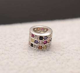 Talisman din argint cu pietre multicolor semipretioase-CHA 1032