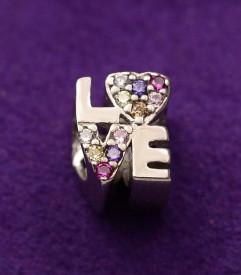 Talisman din argint Multicolor Love CHA1094