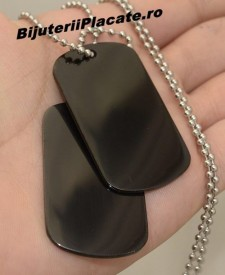 Lant inox Army(Dog Tag) BLACK cod LC66