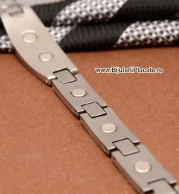 Bratara Argintie Inox MAGNETICA B852