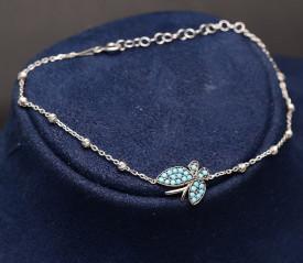 Bratara Din Argint --Blue Butterfly-- ARG344